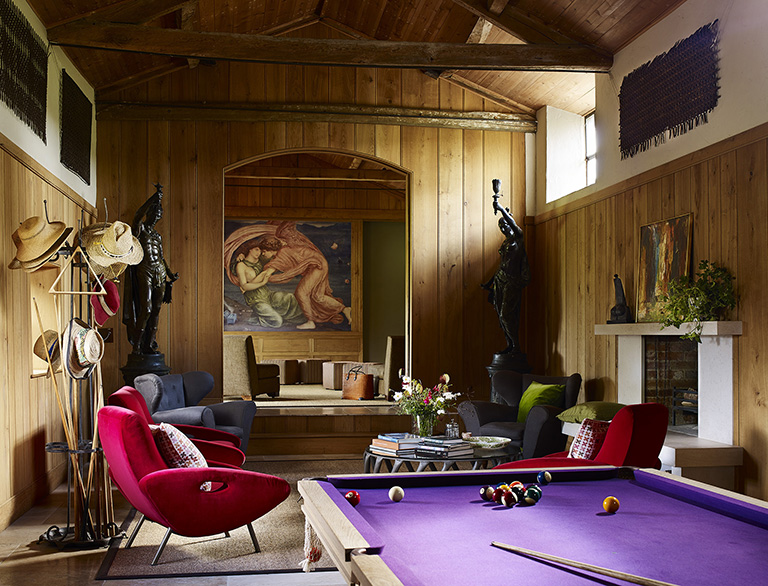 barn pool table with stunning interior color theme